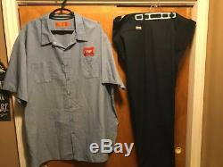 MILLER BREWING Mens 6XL 50W HIGH LIFE BEER Delivery Work Shirt & Pants Uniform