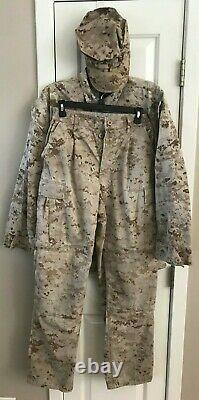 Marine Corps Desert Uniform Combo Set Small Shirt Pants 44 Hat MARPAT Semper Fi