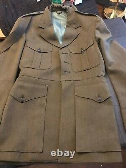 Marine Dress greens Jacket and Pants and tan shirt full uniform