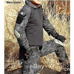 Men Military Uniform Clothes Camouflage Clothes Suit Combat Shirt Cargo Pants
