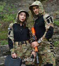 Mens Camouflage Tactical Suit Shirts Pants Military Combat Uniform SWAT BDU Sets