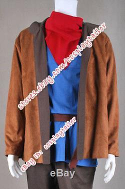 Merlin Cosplay Costume Outfits Uniform Suit Full Set Coat Shirt Pants Scarf Belt