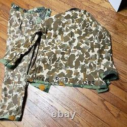 Mint Rare Original Theatre Made Vietnam War Mitchell Pattern Camo Shirt & Pants