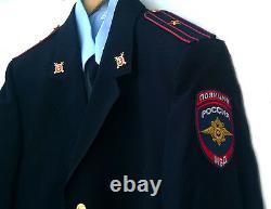 Modern Russian MVD uniforms Shirt + tie +jacket+ pants