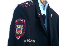 Modern Russian police (MVD) uniforms Shirt + tie +jacket+ pants