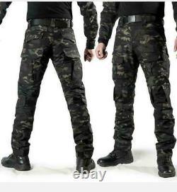 Multicam Black Men's Military Combat Suit Shirt Pants Tactical BDU Uniform 2019