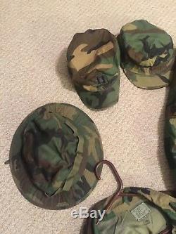 NAMED Captain 10pc US Air Force USAF Woodland Uniform Lot PANTS SHIRTS Cap LARGE