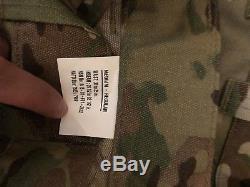 NEW MULTICAM ARMY COMBAT SHIRTS & PANTS. SIZE MED/REG. 2x PANTS, 4xSHIRTS