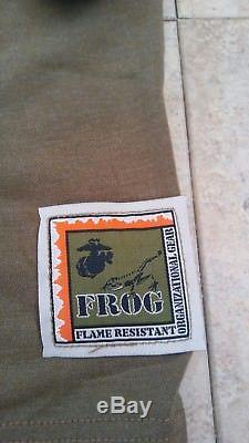 NEW USMC Woodland Digital Frog Shirt, & Pants AUTHENTIC, Size MED REG NWT