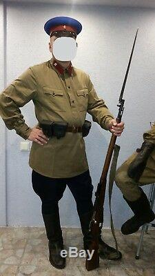 NKVD uniform. Shirt with tabs and Pants Blue 1935-1942 WWII. Reproduction