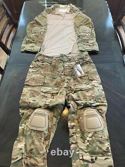 NWT. Crye Army Custom Combat Pants 36 & Shirt LG MULTICAM G3. With knee and elbow