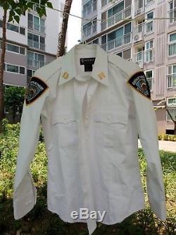 NYPD woman uniform shirts white pants set