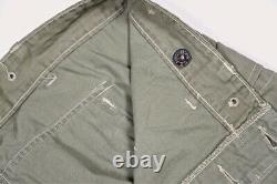 Named WWII USMC Marine Corps Grouping P44 Trouser Monkey Pants and Green Shirt