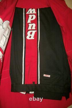 Nascar Bud Pit Crew Uniform Pants Shirt Simpson Budweiser