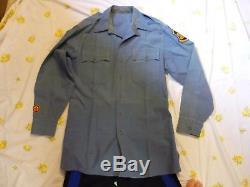 OBSOLETE 1950s-Era Missouri State Highway Patrol WINTER Uniform Shirt/Pants EEE