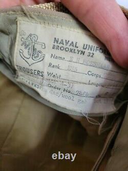 OFFICIAL Vintage used US Navy 2 Piece Uniform SHIRT PANTS