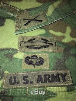 OG 107 Slant Pocket ERDL Shirt & Pant, Airborne Ranger Green Beret, Named
