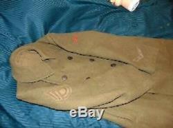 ORIGINAL American WW1 US Army UNIFORM SET with Hat Coat Pants & Shirt