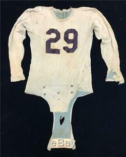 Old 1930s Depression Mens Athletic Football Uniform Helmet Pads Pants Shirt #29