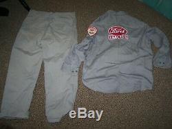 Old Original FORD Tractor Dealership Service Uniform Shirt Pants Dealer NICE