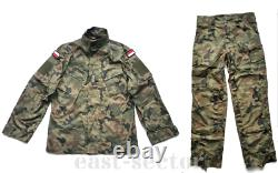 Original Polish Army Combat Uniform Pants Shirt Woodland Rip-Stop POLAND L/L