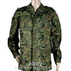 Original Polish Army Combat Uniform Pants + Shirt Woodland Rip-Stop Poland 172