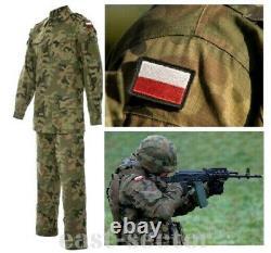 Original Polish Army Combat Uniform Pants + Shirt Woodland Rip-Stop Poland 175