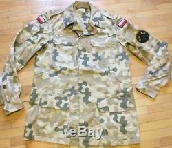 Original Polish Army Desert Uniform Oif/oef (pants + Shirt) L/r