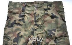 Original Polish Army Pants + Shirt Uniform Woodland Camouflage Rip-stop Poland