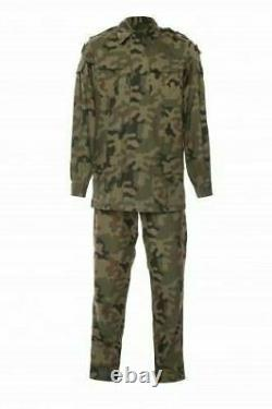 Original Polish Army Pants + Shirt Uniform Woodland Camouflage Rip-stop Poland 1