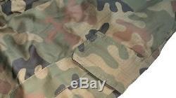 Original Polish Army Pants + Shirt Uniform Woodland Camouflage Rip-stop Xl/l