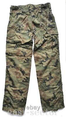 Original Polish Army WP Combat Uniform Pants Shirt Woodland Rip-Stop POLAND L/XL