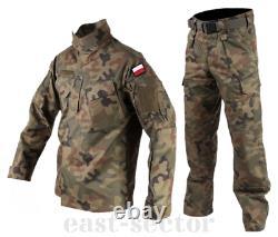 Original Polish Army WP Combat Uniform Pants Shirt Woodland Rip-Stop POLAND M/XL