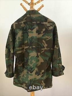 Original US Vietnam War ERDL Camo 4 Piece Set Shirt Pants Cap Belt Excellent