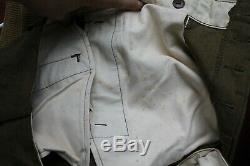 Original WW2 US Army Regulation wool shirt, pants, belt, 1945 canteen and belt