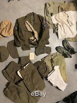 Original WWII 2nd Air Force Uniform Shoes 1940s Jacket Pants Shirt Hats