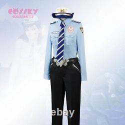 Overwatch Police Officer Dva Cosplay Suit Women Girls Costume Uniform Halloween