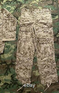 Paraclete SOF DESERT DIGITAL AOR1 BDU PANTS SHIRT UNIFORM SET MEDIUM CAG AWG
