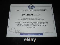 Patriots Day Travis (Brandon Wahlberg) Movie Costume Uniform Pants, Shirt, Shoes