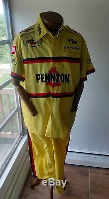 Pennzoil Team Issue Pit Crew Shirt & Pants Uniform MICHAEL WALTRIP BAHARI RACING