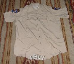 RETIRED CHP CALIFORNIA HIGHWAY PATROL UNIFORM SHIRT & PANTS COMPLETE with PATCHES