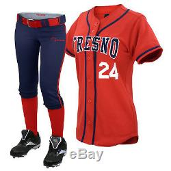 ROAR 10 Sublimated Softball Uniform Team Set Shirts/Pants With Free Name, Number
