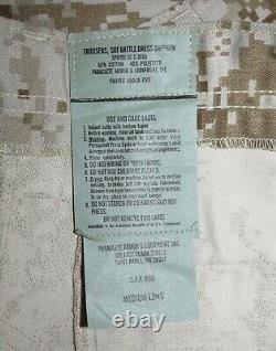 Rare Set Paraclete SOF DESERT DIGITAL AOR1 BDU SHIRT & PANTS MEDIIUM LONG CAG