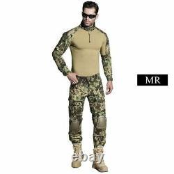 SINAIRSOFT Military Uniform Multicam Army Combat Shirt Uniform Tactical Pants Wi