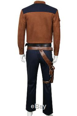Solo A Star Wars Story Han Solo Cosplay Costume Jacket Pants Shirt Suit Uniform