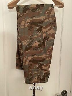 South African 32nd Battalion camouflage uniform set -Jacket, Shirt, Pants, Named