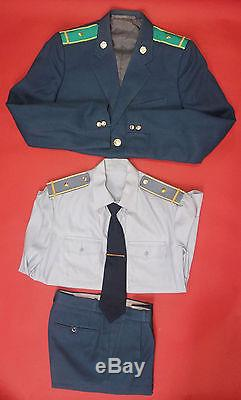 Soviet CUSTOMS OFFICER UNIFORM 4pc Tunic Pants Shirt Tie +Shoulder Boards 1989