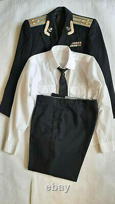 Soviet parade uniform of Colonel Naval Aviation (jacket, pants, shirt, tie)