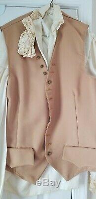 Stage quality Revolutionary War uniform Complete Jacket Vest Knickers Shirt Wig