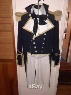 Star Trek Generations 1900's Navy Uniform Hat Belt Pants Shirt Bowtie Whisle